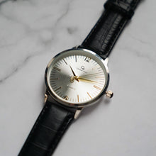 Load image into Gallery viewer, Christyan Arden THEO CA3205 - Around The World Edition - Silver Sunburst Dial - Black Full Grain Strap (Pria)