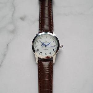 Christyan Arden OWEN CA3213 - Around The World Edition - White Dial - Brown Full Grain Strap (Wanita)