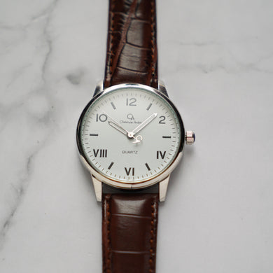 Christyan Arden NILES CA3211 - Around The World Edition - White Dial - Brown Strap (Pria)