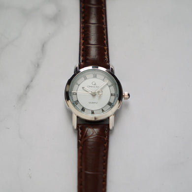 Christyan Arden FALANA CA3212 - Around The World Edition - White Dial - Brown Strap (Wanita)