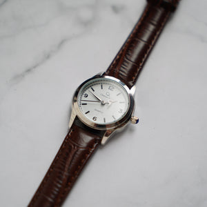 Christyan Arden AVA CA3215 - Around The World Edition - White Dial - Brown Full Grain Strap (Wanita)