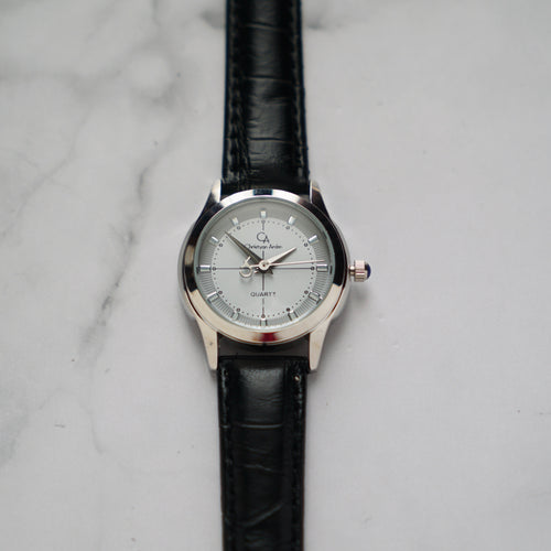 Christyan Arden MILLICENT CA3214 - Around The World Edition - White Dial - Black Strap (Wanita)