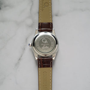 Christyan Arden GALENA CA3216 - Around The World Edition - White Dial - Brown Full Grain Strap (Wanita)