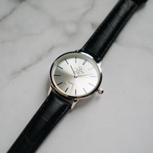 Muat gambar ke penampil Galeri, Christyan Arden LENORE CA3207 - Around The World Edition - Silver Sunburst Dial - Black Full Grain Strap (Wanita)