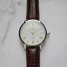 Muat gambar ke penampil Galeri, Christyan Arden CLEO CA3206 - Around The World Edition - White Dial - Brown Full Grain Strap (Pria)