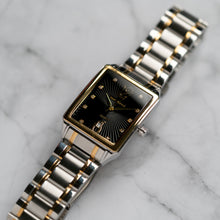 Load image into Gallery viewer, Jean Alexis VILGOT GKT JA122 - Prestige Edition - Silver & Gold Stainless Steel Strap - Gold Case - Black Dial (32mm)