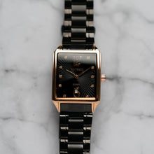 Load image into Gallery viewer, Jean Alexis VILGOT GHST JA122 - Prestige Edition - Black Stainless Steel Strap - Rosegold Case - Black Dial (32mm)