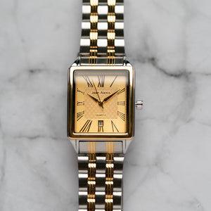Jean Alexis WILMER GKT JA123 - Prestige Edition - Silver & Gold Stainless Steel Strap - Gold Case - Gold Dial (32mm)
