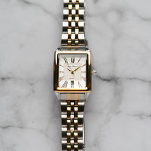 Load image into Gallery viewer, Jean Alexis WILMER LKT JA123 - Prestige Edition - Silver & Gold Stainless Steel Strap - Gold Case - White Dial (28mm)