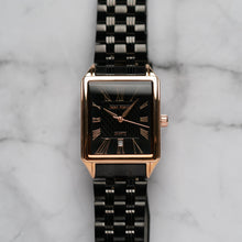 Load image into Gallery viewer, Jean Alexis WILMER GHST JA123 - Prestige Edition - Black Stainless Steel Strap - Rosegold Case - Black Dial (32mm)