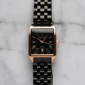 Jean Alexis WILMER GHST JA123 - Prestige Edition - Black Stainless Steel Strap - Rosegold Case - Black Dial (32mm)