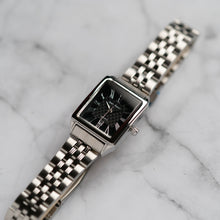 Load image into Gallery viewer, Jean Alexis WILMER LT JA123 - Prestige Edition - Silver Stainless Steel Strap - Silver Case - Black Dial (28mm)