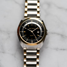 Load image into Gallery viewer, Jean Alexis THEODOR GKT JA118 - Prestige Edition - Gold & Silver Stainless Steel Strap - Gold Case - Black Dial (42mm)