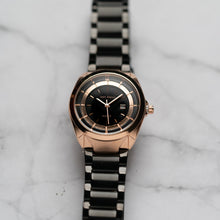 Load image into Gallery viewer, Jean Alexis THEODOR LHST JA118 - Prestige Edition - Black Stainless Steel Strap - Rosegold Case - Black Dial (32mm)