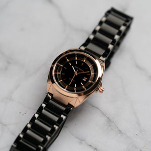 Jean Alexis THEODOR LHST JA118 - Prestige Edition - Black Stainless Steel Strap - Rosegold Case - Black Dial (32mm)