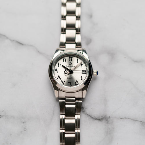 New Christyan Arden AALI CA3109C - Around The World Edition - Silver SunBurst Dial (Wanita)