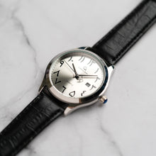 Muat gambar ke penampil Galeri, Christyan Arden AALI CA3109 - Around The World Edition - Silver SunBurst Dial - Black Strap (Pria)