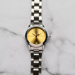 Christyan Arden ARES CA3110C - Around The World Edition - Gold SunBurst Dial (Wanita)