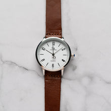 Muat gambar ke penampil Galeri, New Christyan Arden KARAN CA3204 - Around The World Edition - White Dial - Brown Full Grain Strap (Wanita)