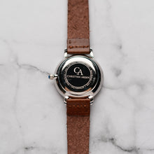 Load image into Gallery viewer, New Christyan Arden OTHELLO CA3208 - Around The World Edition - Black Dial - Brown Full Grain Strap (Wanita)