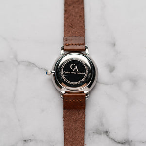 New Christyan Arden OTHELLO CA3208 - Around The World Edition - Black Dial - Brown Full Grain Strap (Wanita)