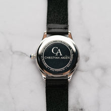 Muat gambar ke penampil Galeri, New Christyan Arden PEARCE CA3105 - Around The World Edition - Silver Sunburst Dial - Black Full Grain Strap (Pria)