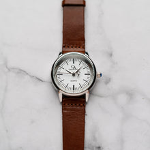 Load image into Gallery viewer, New Christyan Arden XANDER CA3210 - Around The World Edition - White Dial - Brown Full Grain Strap (Wanita)