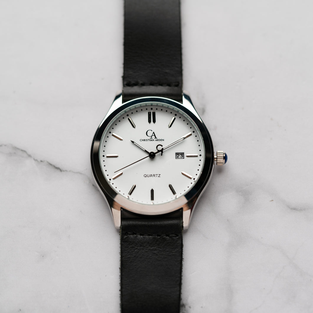 New Christyan Arden NEO CA-0001 - Around The World Edition - White Dial - Black Strap (Pria)