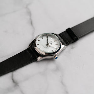 New Christyan Arden ICARUS CA-001 - Around The World Edition - White Dial - Black Full Grain Strap (Wanita)