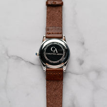 Load image into Gallery viewer, New Christyan Arden ICARUS CA-001 - Around The World Edition - White Dial - Brown Full Grain Strap (Wanita)