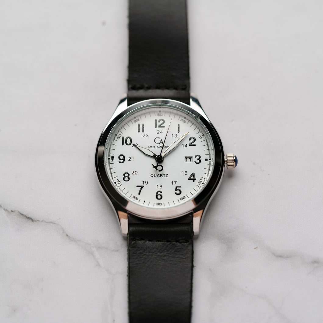 New Christyan Arden NYKE CA3101 - Around The World Edition - White Dial - Black Strap (Pria)