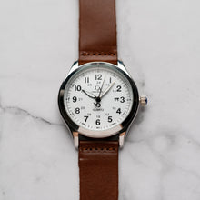 Muat gambar ke penampil Galeri, New Christyan Arden NYKE CA3101 - Around The World Edition - White Dial - Brown Strap (Pria)