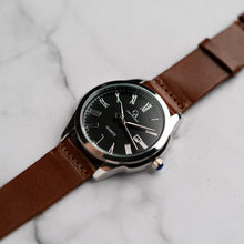 Load image into Gallery viewer, New Christyan Arden FELIPE CA3108 - Around The World Edition - Black Dial - Brown Full Grain Strap (Pria)