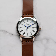 Load image into Gallery viewer, New Christyan Arden FELIPE CA3108 - Around The World Edition - White Dial - Brown Full Grain Strap (Pria)