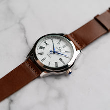 Muat gambar ke penampil Galeri, New Christyan Arden FELIPE CA3108 - Around The World Edition - White Dial - Brown Full Grain Strap (Pria)