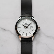 Muat gambar ke penampil Galeri, New Christyan Arden GENESIS CA3104 - Around The World Edition - White Dial - Black Full Grain Strap (Pria)