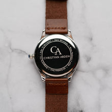 Muat gambar ke penampil Galeri, New Christyan Arden GENESIS CA3104 - Around The World Edition - White Dial - Brown Full Grain Strap (Pria)