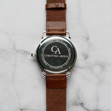 Load image into Gallery viewer, New Christyan Arden FALANA CA3212 - Around The World Edition - White Dial - Brown Full Grain Strap (Pria)