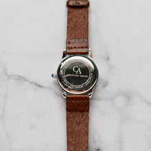 Load image into Gallery viewer, New Christyan Arden FALANA CA3212 - Around The World Edition - White Dial - Brown Full Grain Strap (Wanita)