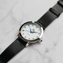 Load image into Gallery viewer, New Christyan Arden OWEN CA3213 - Around The World Edition - White Dial - Black Full Grain Strap (Pria)