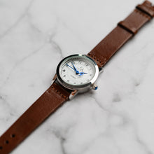 Load image into Gallery viewer, New Christyan Arden OWEN CA3213 - Around The World Edition - White Dial - Brown Full Grain Strap (Wanita)