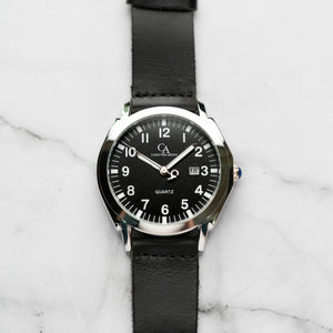New Christyan Arden TITAN CA-0002 - Around The World Edition - Black Dial - Black Strap (Pria)