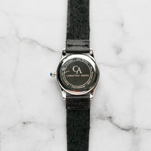 Muat gambar ke penampil Galeri, New Christyan Arden LANDER CA-0005 - Around The World Edition - Black Dial - Black Full Grain Strap (Wanita)