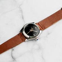 Load image into Gallery viewer, New Christyan Arden LANDER CA-0005 - Around The World Edition - Black Dial - Brown Full Grain Strap (Wanita)