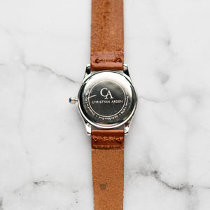 New Christyan Arden LANDER CA-0005 - Around The World Edition - Black Dial - Brown Full Grain Strap (Wanita)