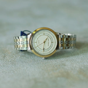 Jean Alexis Luxury Watch GKT JA002 White Dial (Man) Gold Hands