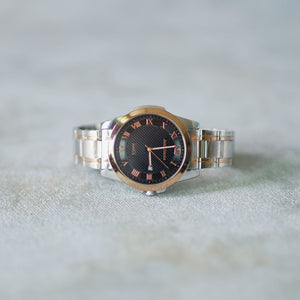 Jean Alexis Luxury Watch GST JA008 Black Dial (Man) Rosegold Hands
