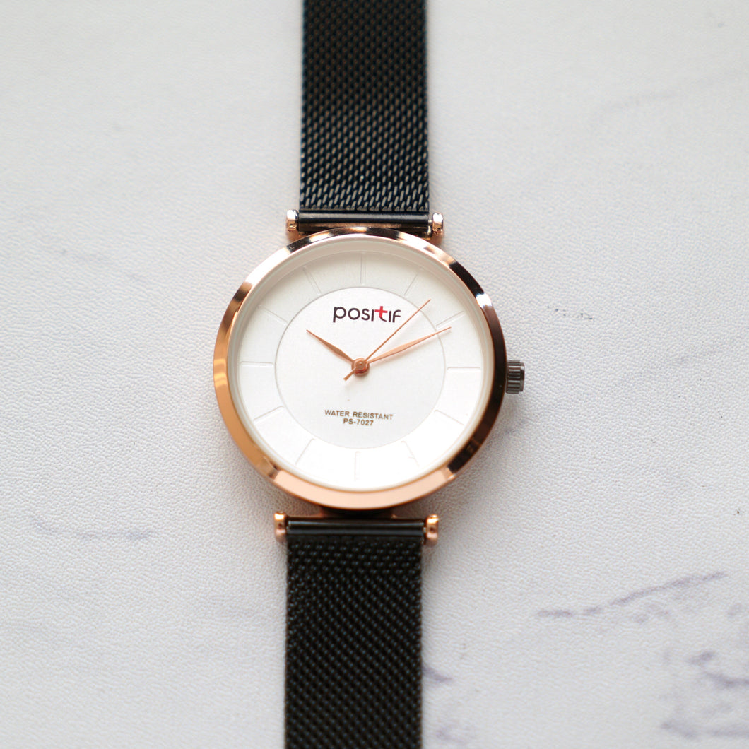 Positif Watch PS-7027 White Dial - Combination (Pria)