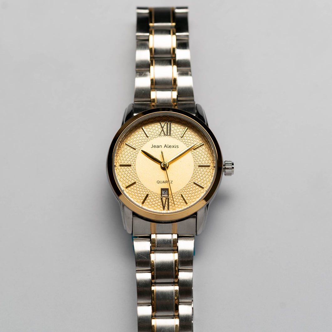 Jean Alexis KIRKWOOD LKT JA111 - Prestige Edition - Gold & Silver Stainless Steel Strap - Gold Case - Gold Dial (30mm)