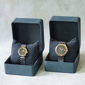 Jean Alexis Luxury Watch LKT JA002 Black Dial (Wanita) Gold Hands